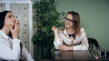 Innocent School Girl Learns To Smoke