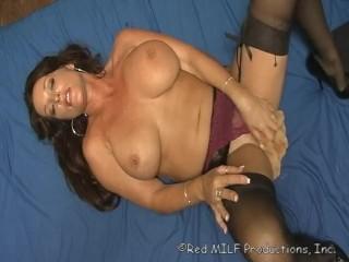 Rachel Steele Fetish Black Stockings Milf Masturbation with Teddy Bear