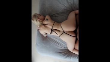 Horny British slut tied up and used