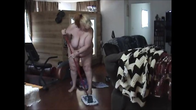 Nude over 60 free Bbw cleaning house in the nude bending over showing off 60 ass - not hd