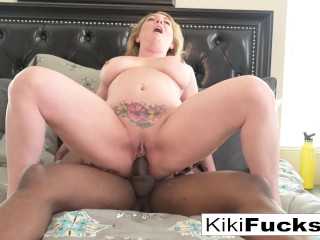 Kiki has a workout with her Iuctor and his BBC Kiki Daire, Will Tile