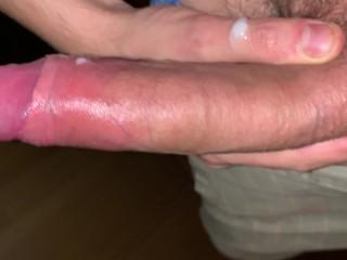 close up cumshot uncut cock solo handjob 4k 60fps blowjob needed