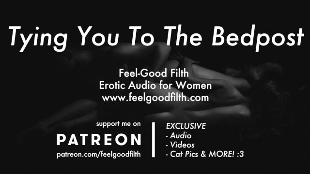 Tied in sex - Tied to the bed: thick cock fucking your g-spot erotic audio for women
