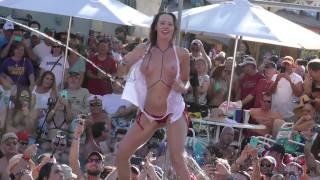 Crazy Wet Sluts Pool Pussy Flash Contest UNCENSORED