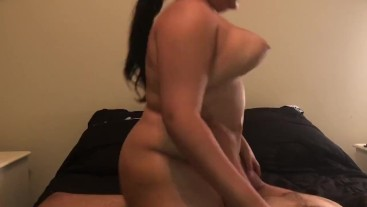 *BOUNCING TITS* fucking my roommate girlfriend while he's next door