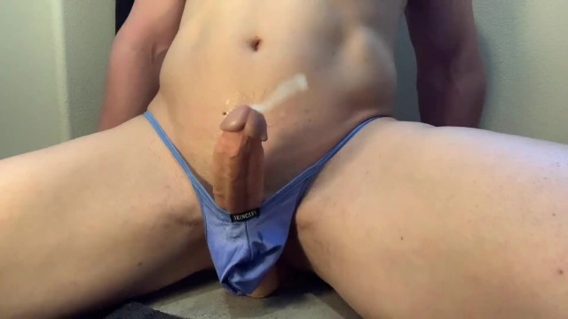 Free huge cock gay - Hands free cum and prostate orgasms from riding huge vibrating dildo