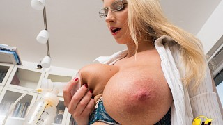 Screen Capture of Video Titled: Lactate Milking in work office Katerina Hartlova use pump milk