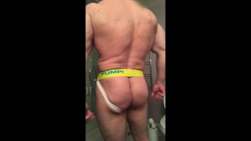 hot jockstrap posing, teasing, showing off all assssss ets