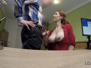 LOANK Agent screws busty redhead Isabella Lui Isabella Lui
