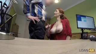 LOAN4K. Agent screws busty redhead Isabella Lui