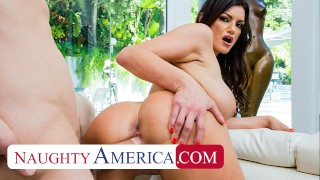 Naughty America Becky Bandini fucks to keep her Stepson's job
