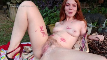 Outdoor Bad Dragon Creampie for Boss