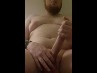 Naked guy fucks himself quietly on his birthday ( big cum load )
