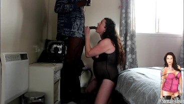 Shemale Transexual swallowing BBC before cumming on each others cock