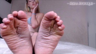 Summer Soles Worship: JOI Before the Pool - foot worship feet joi femdom