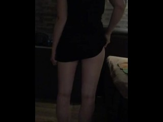 MILF takes her dress of in slowmotion