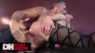 Deviant Hardcore - Sub Liv Revamped is chained up and dominated