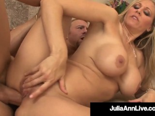 Busty Blonde Milf Julia Ann Creams Banging Her Yoga Iuctor Julia Ann
