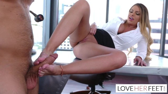 Polygon love 2 footjob Employee footjob in corner office of boss brooklyn chase