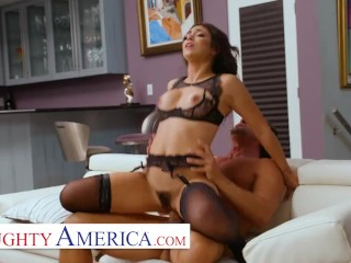 Naughty America – Brooklyn Gray friends dad a lucky day