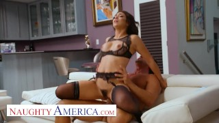 Naughty America - Brooklyn Gray friends dad a lucky day