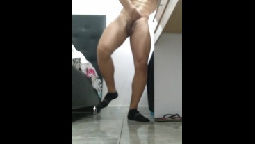 Solo Young Latino masturbates in his girlfriend's room - BlackMrqz94