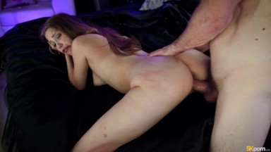 Amateur chubby hairy HOUSEWIFE fucked by huge cock and REAL SQUIRT dildo