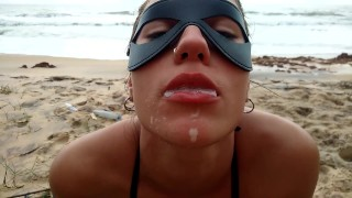 POV PUBLIC SUMMER BEACH, FUCK FACE, ANAL AND CUM SWLLOW!!!!