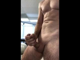 Edging walking orgasm yoga ball bouncing