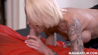 Busty cheating housewife goes down and dirty