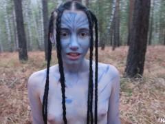Cute alien tastes my cum (avatar cosplay) - MaryVincXXX #HALLOWEEN2019