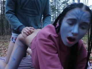 Cute alien tastes my cum (Avatar cosplay) – MaryVincXXX #HALLOWEEN2019