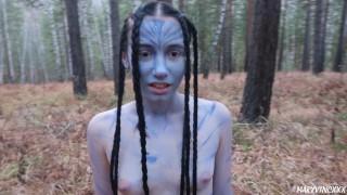 Cute Neytiri from Pandora tastes my cum (avatar cosplay) - MaryVincXXX