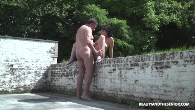 Senior citizen nudist pics Babes first time with a senior citizen outside