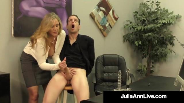 Julia ann pee Cock craved cougar julia ann squeezes cum from rock hard cock