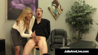 Cock Craved Cougar Julia Ann Squeezes Cum From Rock Hard Cock!