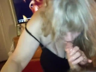Gorgeous housewife gets extreme Facefuck from her stepsons best friend