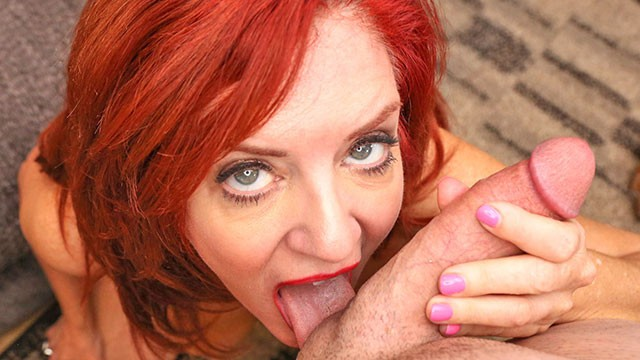 MILFTRIP Huge Tit Red Head MILF Deep Throats Big Dick Neighbor