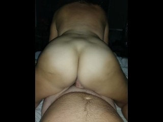 Wife's bouncing ass and pussy waaayyyy too much!!! Old and cums quickly!