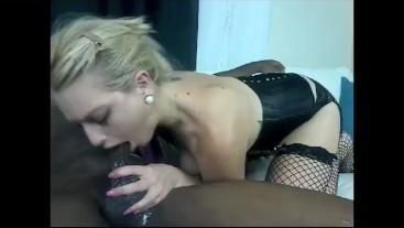 Skylar Madison deep throats Jack Blaque's big black dick (FULL)