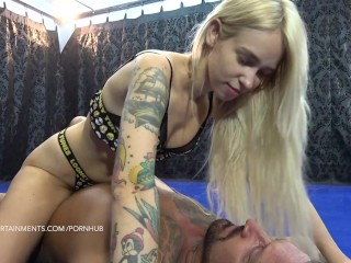 Arteya vs Zsolt The Borderline Femdom Mixed Wrestling Arteya Dee