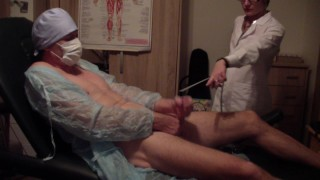Young dominate russian doctor' s examination of a submissive polish man - I