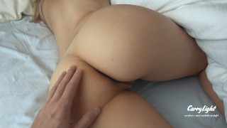 Sleepin Teen Step Sister Wakes Up to Thick Cock and Gets way to Horny