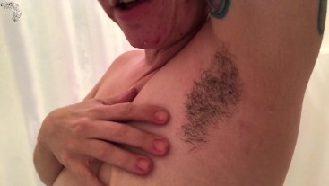 Hot MILF Hairy Armpits in the Shower JOI