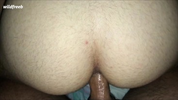 He made me jump on his big dick and fuck myself hard and raw bareback