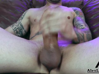 !!Alex Legend Jerks Off His Big Uncut Dick Before Dropping A Monster Load!!