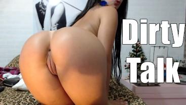 Hot Teen Dirty Talk - Masturbating Pussy and Feet Close up Riding Dildo