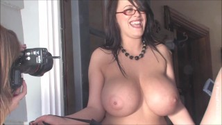 Leanne Crow is your busty nerdy hottie MILF