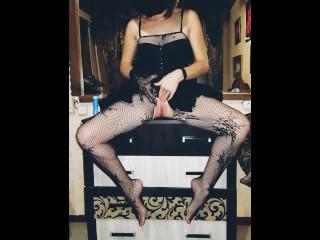 Games with a beautiful mistress Masturbation Kegel Balls Fuck her