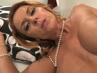 Huge Tit Blonde Mom Tried her Step Sons Big Cock